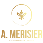 A. Merisier Event Coordination & Design Logo